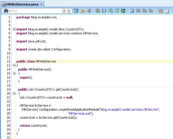 Create REST WebServices using BC4J - Flexagon