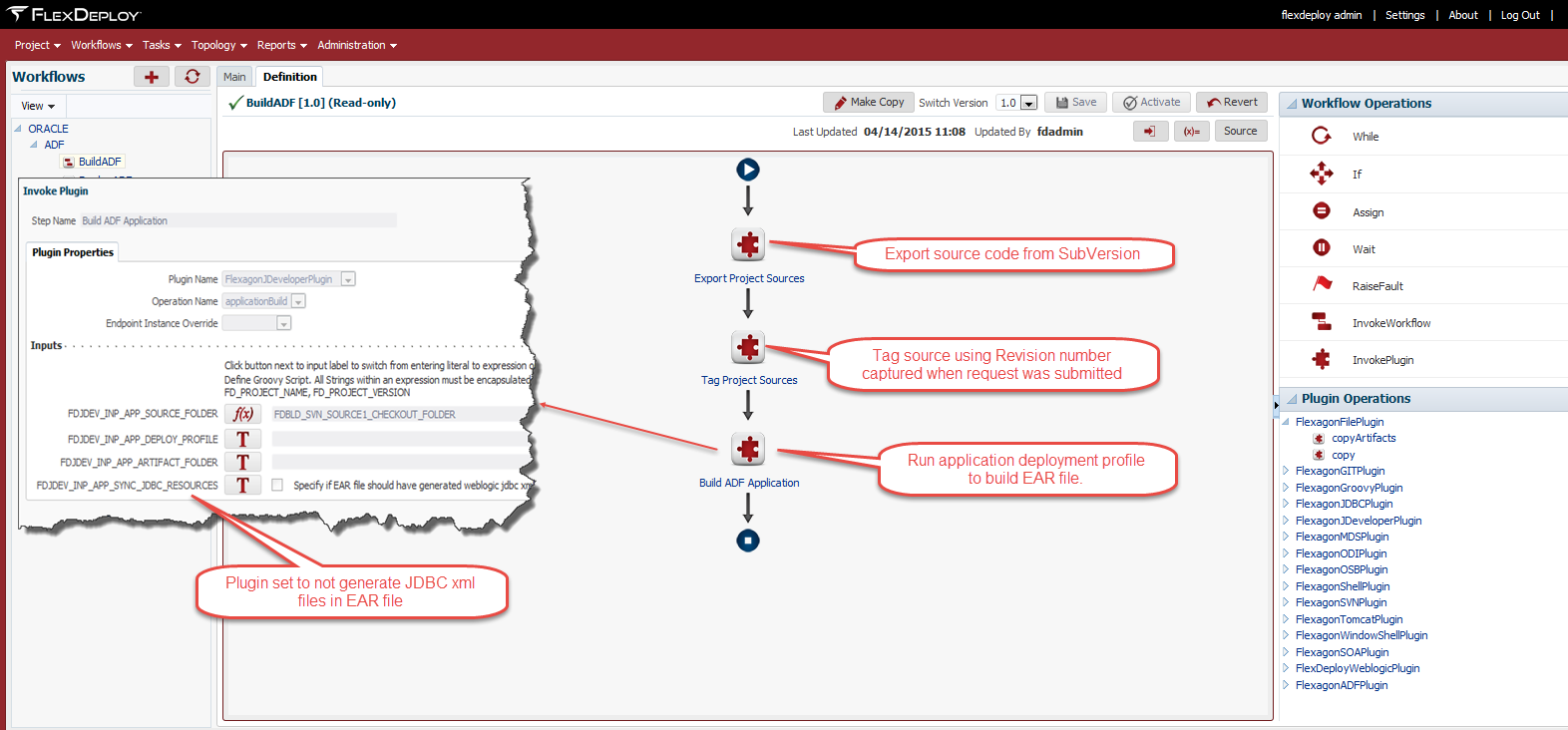 FlexDeploy Build ADF Workflow