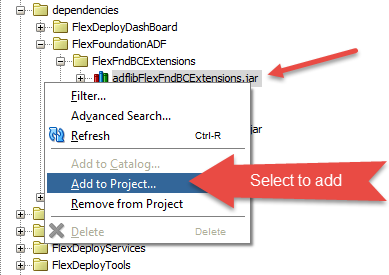 Adding ADF Library JAR to Project