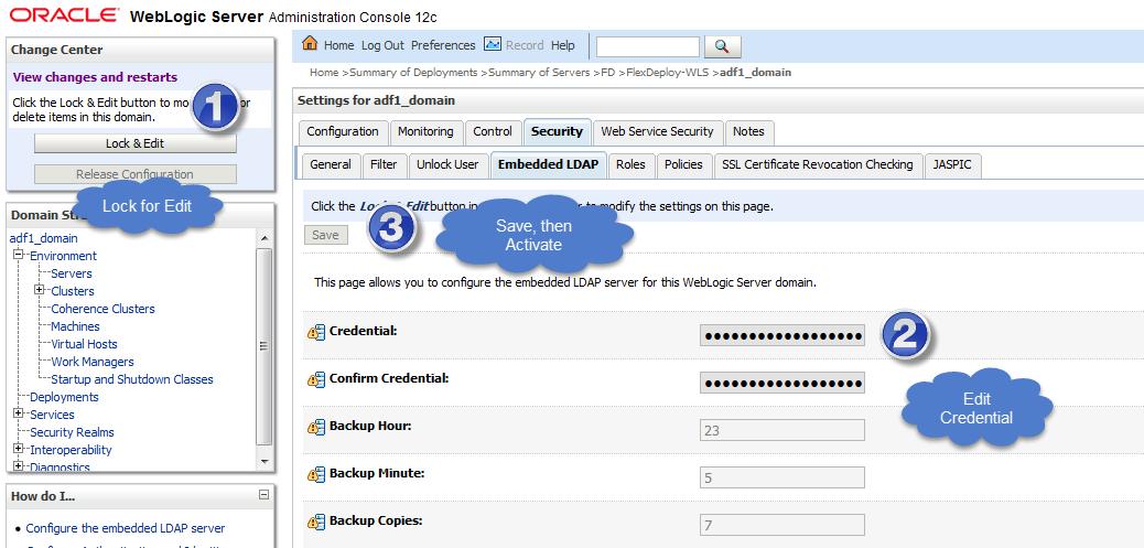 Connect to WebLogic Embedded LDAP using LDAP Browser - Flexagon