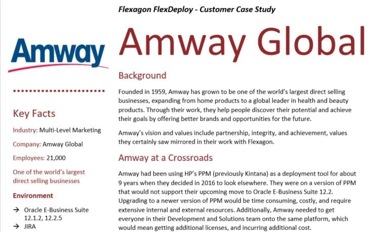DevOps Case Study: Amway Global