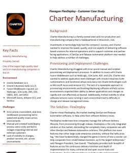 Charter Manufacturing is a FlexDeploy User.