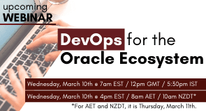 Upcoming Webinar: DevOps for the Oracle Ecosystem