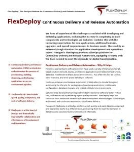 FlexDeploy Whitepaper: Continuous Delivery and Release Automation