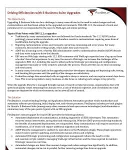 Whitepaper: Driving Efficiencies with E-Business Suite Upgrades