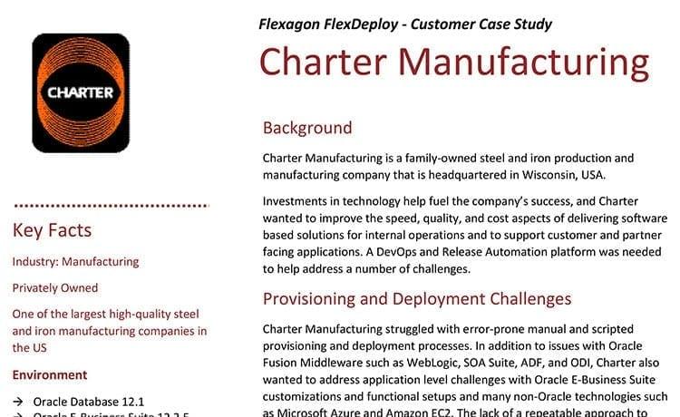 DevOps Case Study: Charter Manufacturing