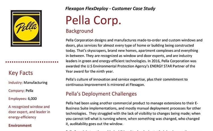 DevOps Case Study: Pella Corp