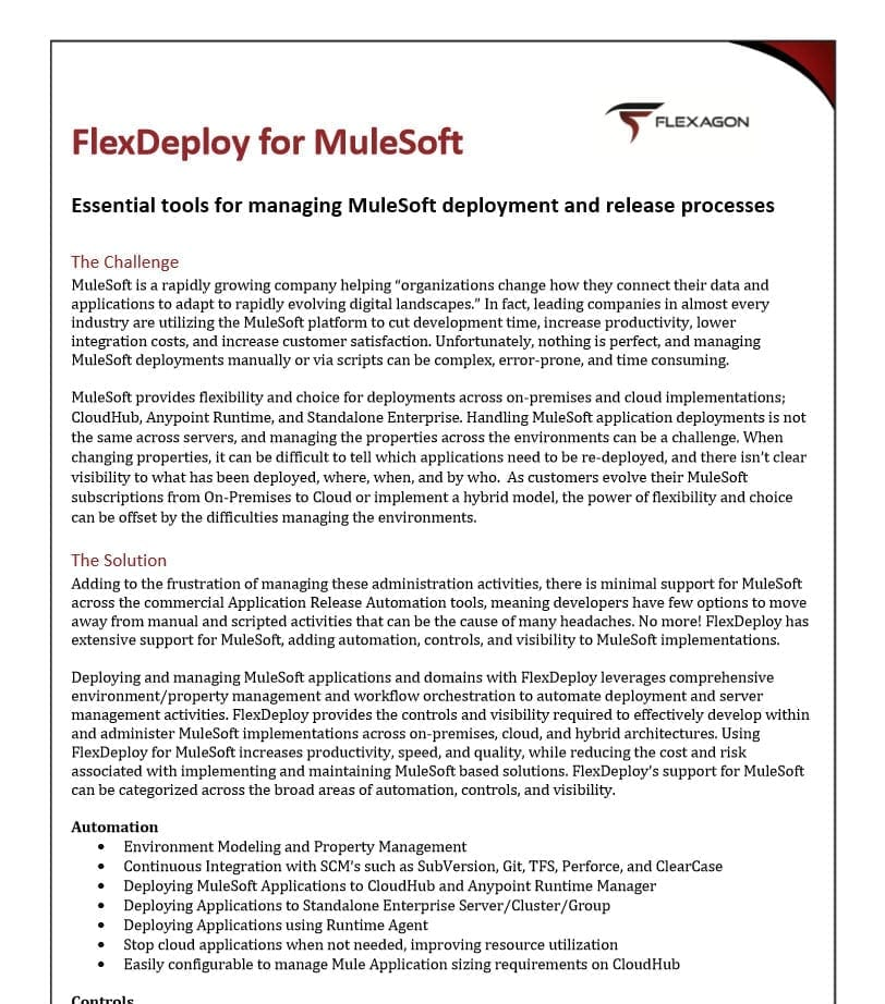 Whitepaper: FlexDeploy for Mulesoft