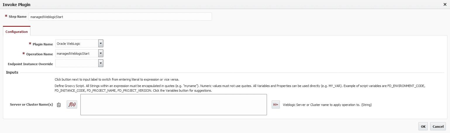 Managed Server Start