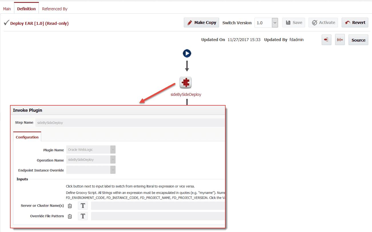 Hot Deployment to WebLogic using FlexDeploy - Flexagon
