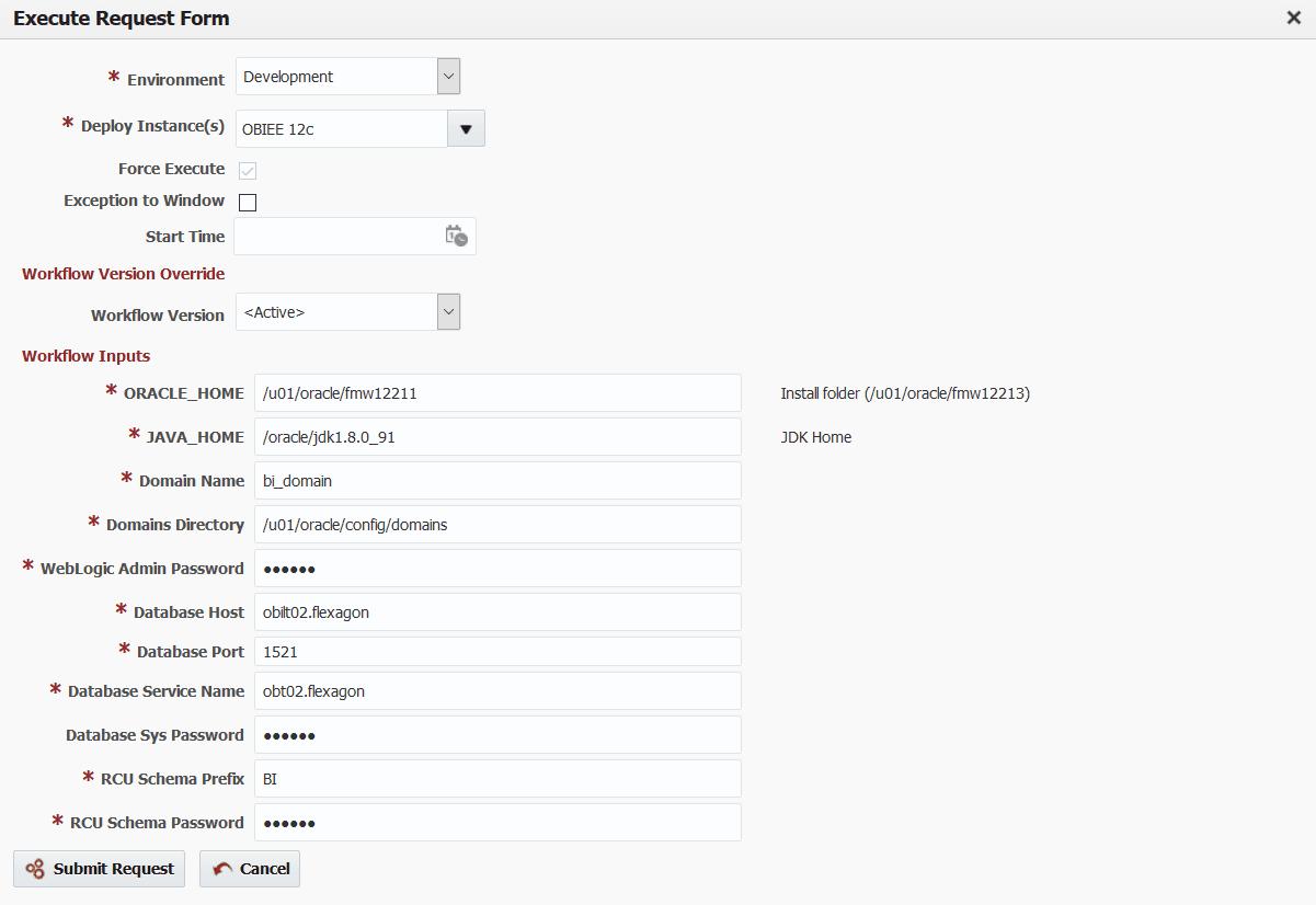 Automate Oracle BI 12c Domain Creation with FlexDeploy - Flexagon