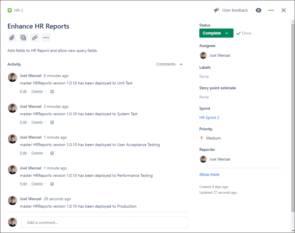 FlexDeploy's Jira integration allows you to easily connect this popular tool to your release pipeline.