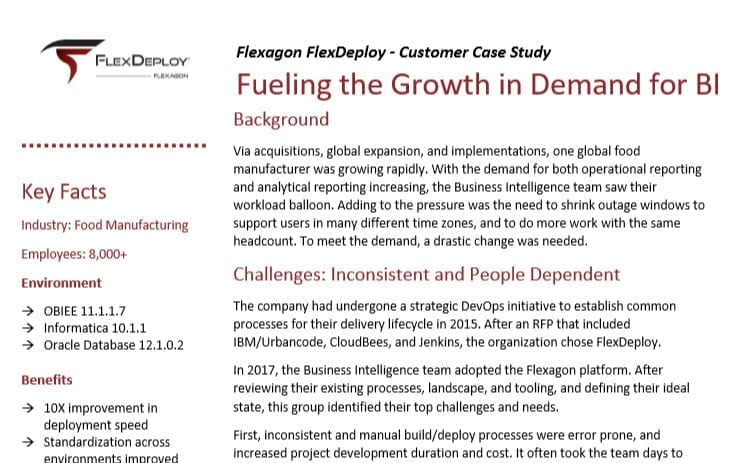 DevOps Case Study: Fueling the Growth in Demand for BI