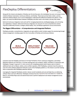 Whitepaper: FlexDeploy Differentiators