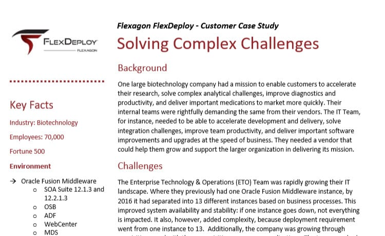 DevOps Case Study: How one biotech company accelerate development and delivery, solve integration challenges, improve team productivity, and deliver important software improvements and upgrades at the speed of business.