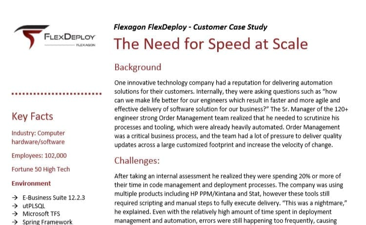 DevOps Case Study: The Need for Speed at Scale