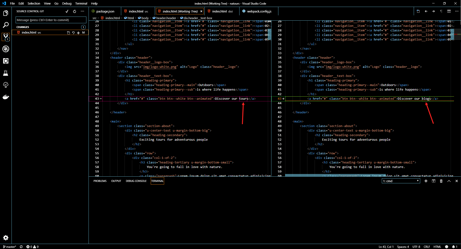 Source code change