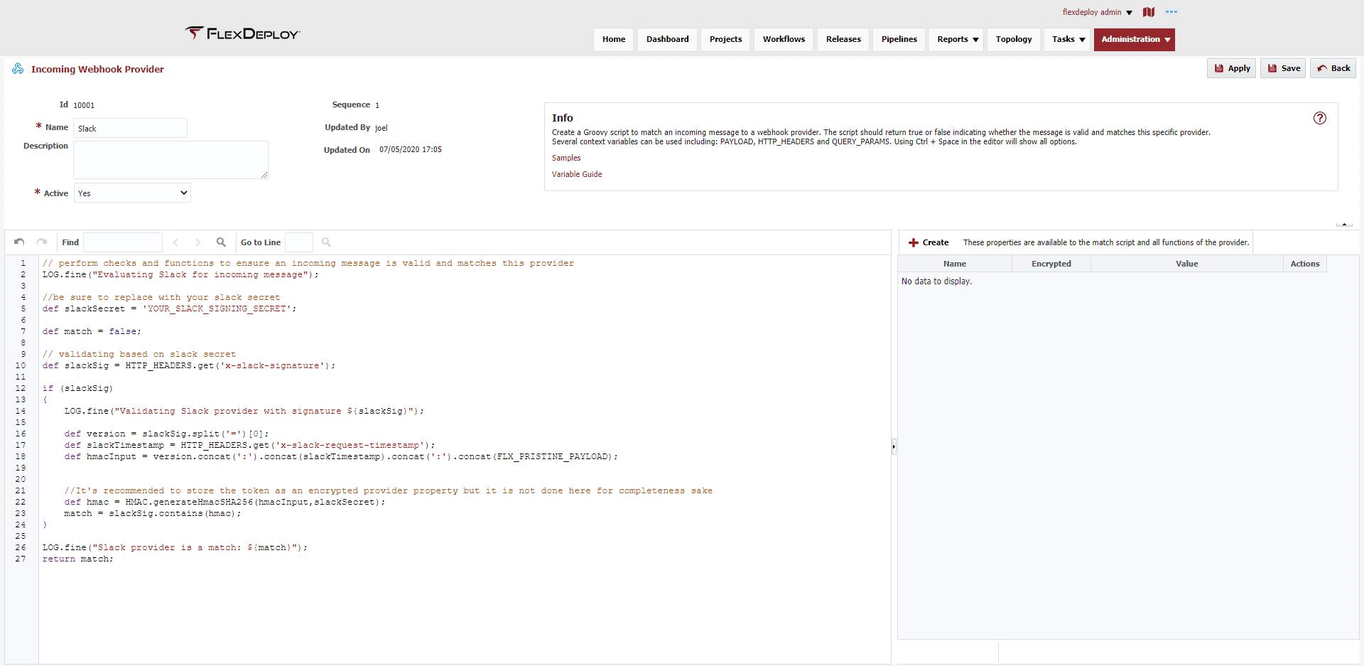 Slack Provider