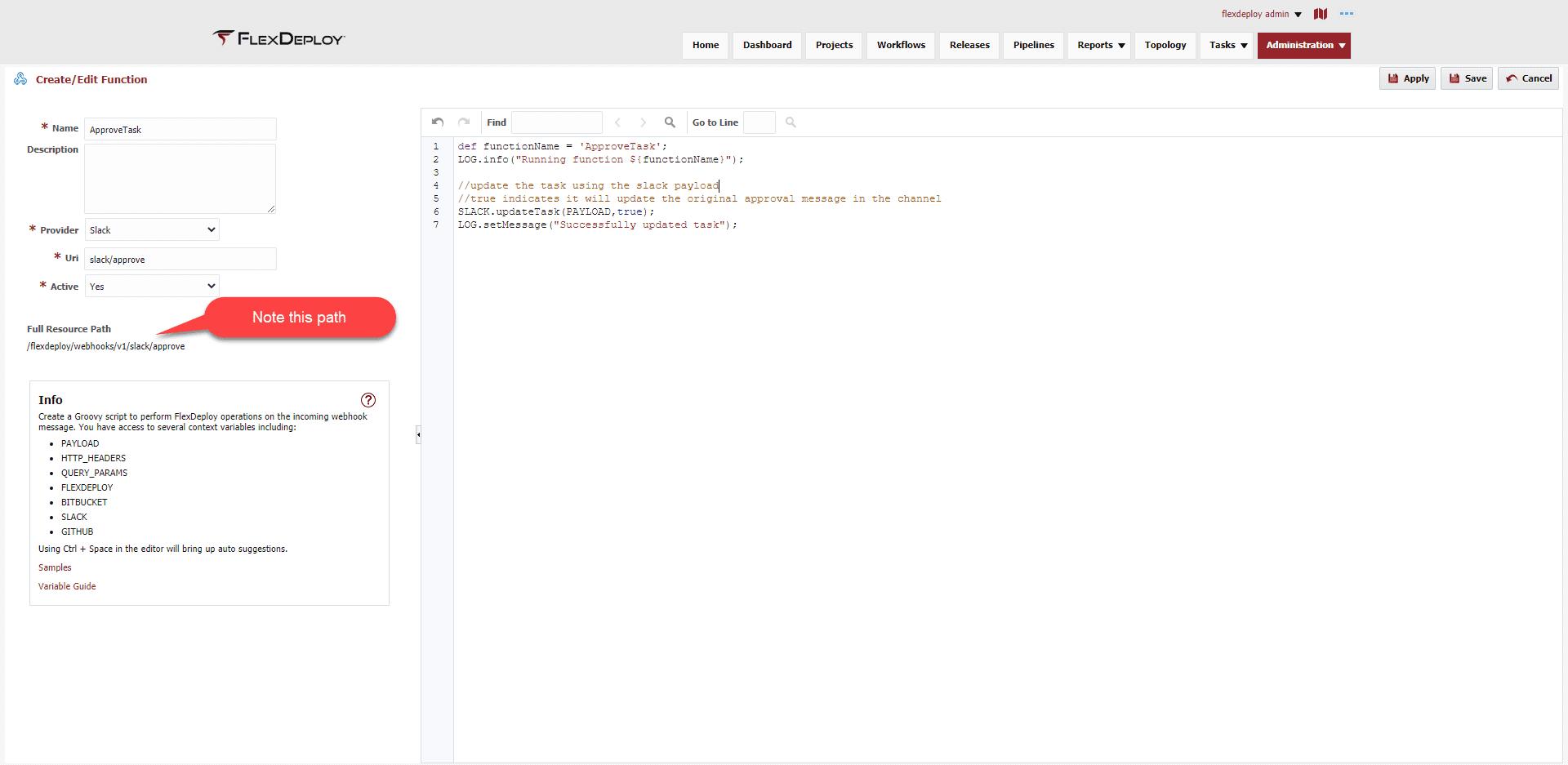 Slack Approve Task Function