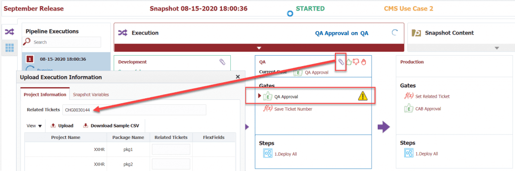 New Ticket created in FlexDeploy for ServiceNow