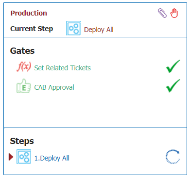 Both tickets are approved and set in the Production stage in FlexDeploy.