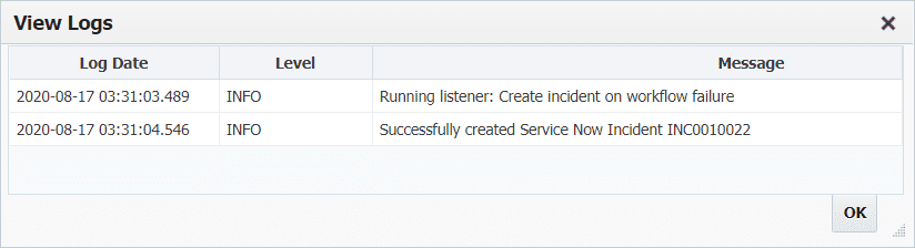 Incident log in ServiceNow