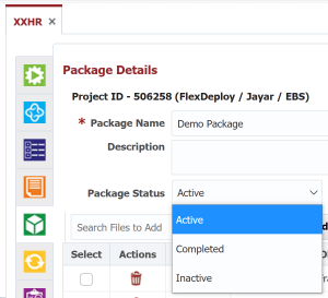 The 3 Package Options in FlexDeploy Project Package