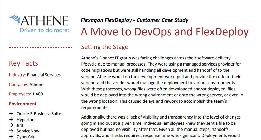 FlexDeploy Case Study: Athene