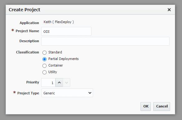 Create ODI Project in FlexDeploy.