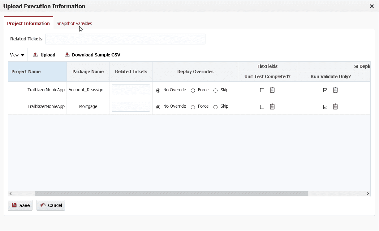 FlexDeploy UX Improvement: Force and Skip Option for Project/Package in Stage Execution