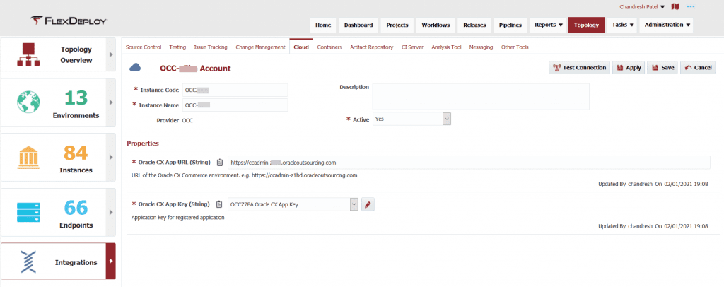 Oracle CX Commerce in FlexDeploy