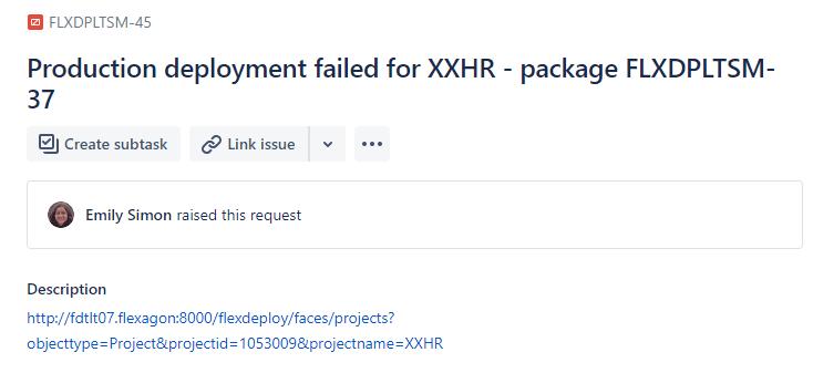 Production deployment failure notification