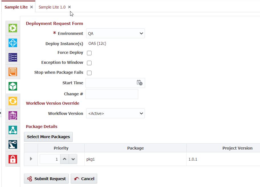 Deployment Request Form