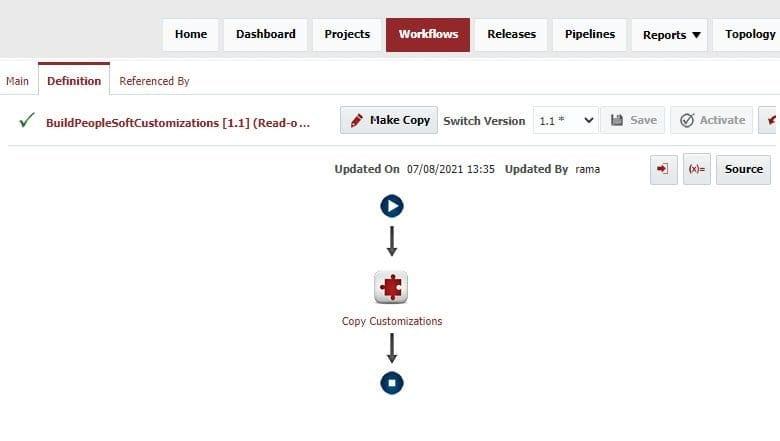 PeopleSoft Build Workflow in FlexDeploy