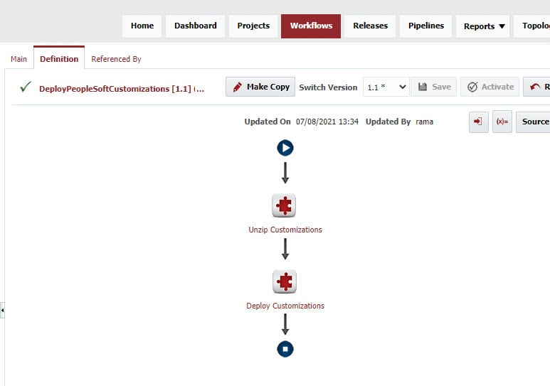 PeopleSoft Deploy Workflow in FlexDeploy