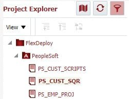 3 PeopleSoft projects in FlexDeploy