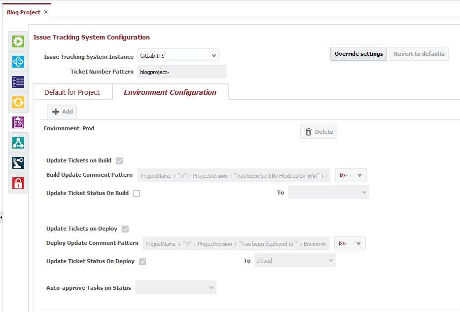 Adding issue tracking to a project