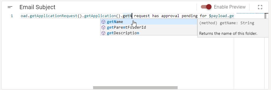 Object options